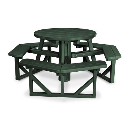 """Park 36"""" Round Picnic Table in Green"""