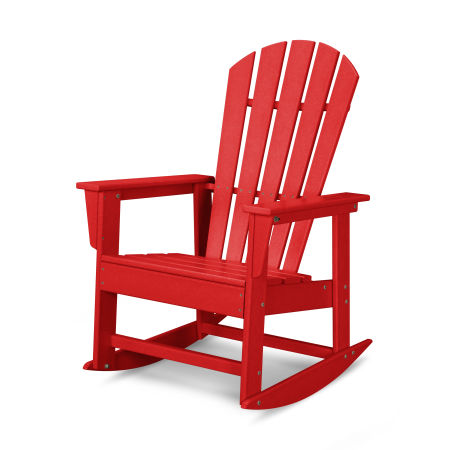 South Beach Rocking Chair in Sunset Red