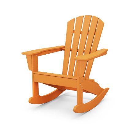 Palm Coast Adirondack Rocking Chair in Tangerine