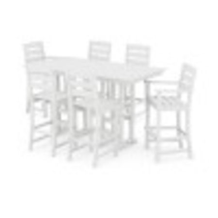 Lakeside 7-Piece Bar Set in White