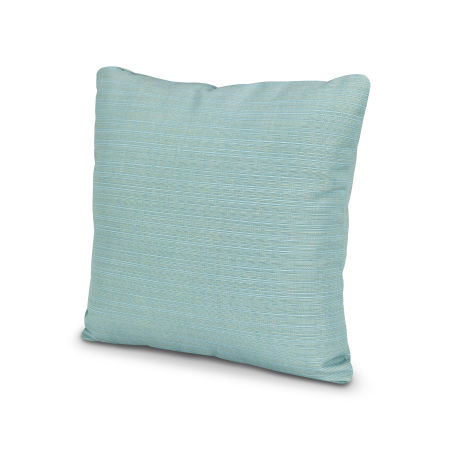 "16"" Outdoor Throw Pillow in Dupione Celeste"
