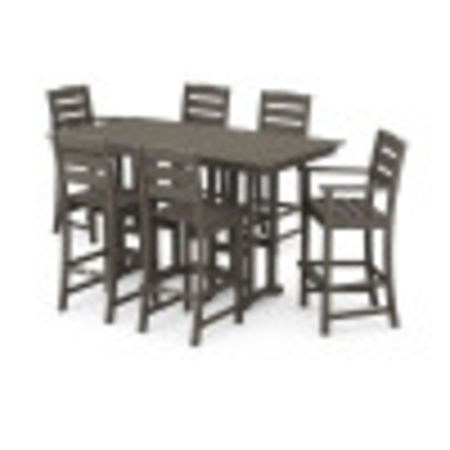 Lakeside 7-Piece Bar Set in Vintage Coffee