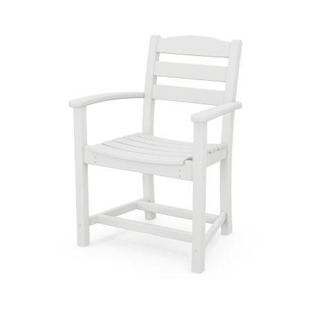 La Casa Café Dining Arm Chair in White