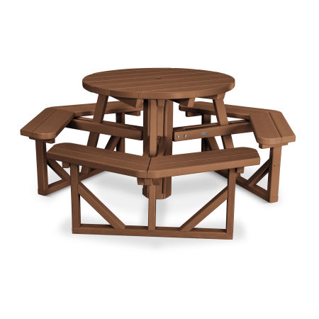 "Park 36"" Round Picnic Table in Teak"