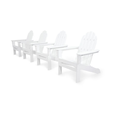 Classics 4-Piece Adirondack Set in White