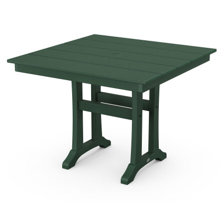 """Farmhouse Trestle 37"""" Dining Table in Green"""