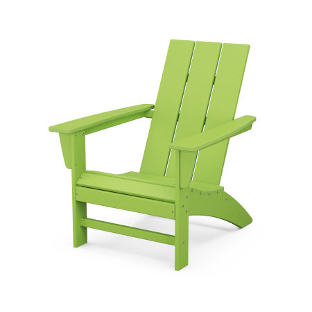 Modern Adirondack Chair in Lime