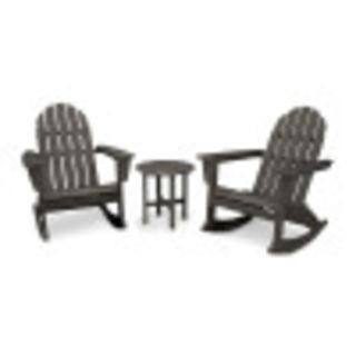 Vineyard 3-Piece Adirondack Rocking Chair Set in Vintage Finish