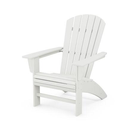 Nautical Curveback Adirondack Chair in Vintage White