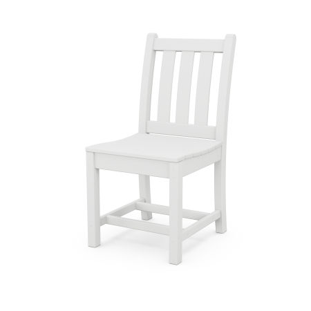 Traditional Garden Dining Side Chair in White