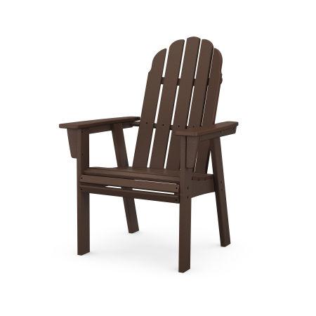 Vineyard Adirondack Dining Chair in Mahogany