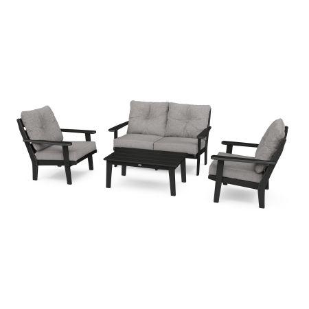 Lakeside 4-Piece Deep Seating Set in Black / Grey Mist