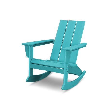 Modern Adirondack Rocking Chair in Vintage Aruba