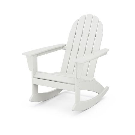 Vineyard Adirondack Rocking Chair in Vintage White