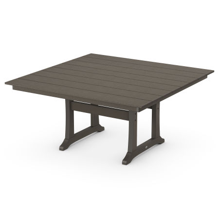 """Farmhouse 59"""" Dining Table in Vintage Coffee"""