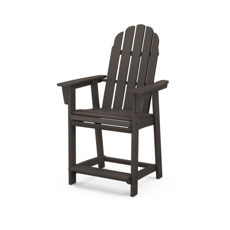 Vineyard Curveback Adirondack Counter Chair in Vintage Finish