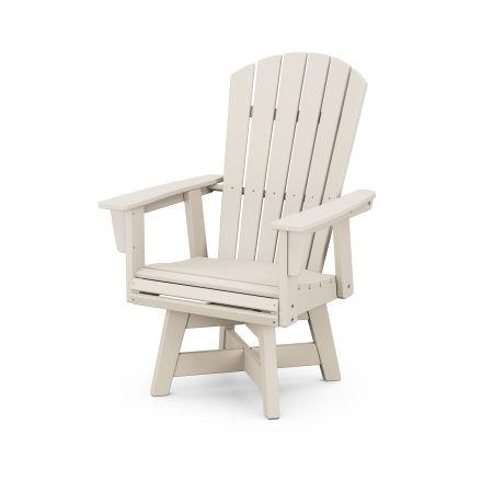 Nautical Adirondack Swivel Dining Chair in Sand
