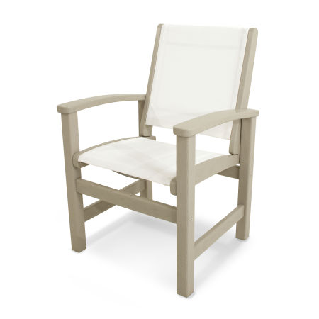 Coastal Dining Chair in Sand / White Sling