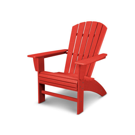 Nautical Curveback Adirondack Chair in Vintage Sunset Red