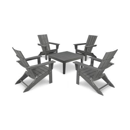 Quattro 5-Piece Conversation Set  in Slate Grey