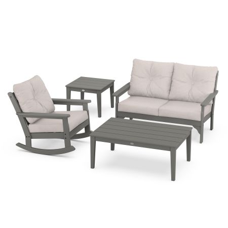 Vineyard 4-Piece Deep Seating Rocking Chair Set