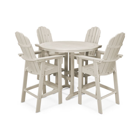 Vineyard Adirondack 5-Piece Nautical Trestle Bar Set in Sand