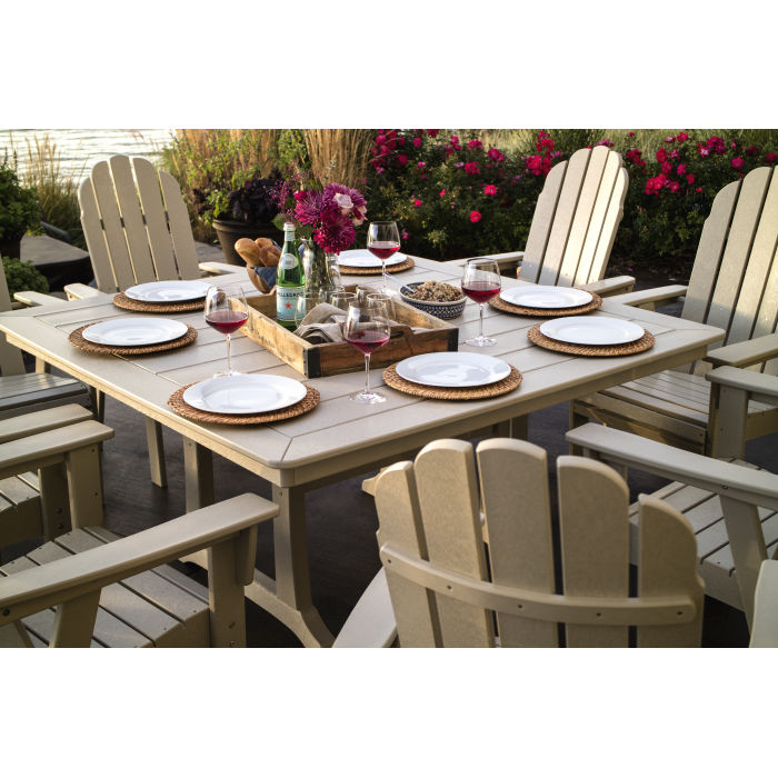 Polywood Vineyard Curveback Adirondack 9 Piece Nautical Trestle Dining Set Pws372 1 Polywood Official Store