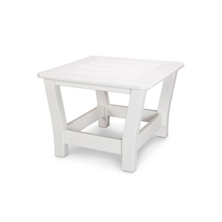 Harbour Slat Side Table in White
