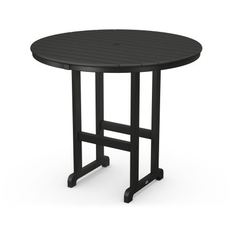 """Round 48"""" Bar Table in Black"""