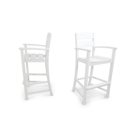 Classics 2-Piece Bar Arm Chair Set in White