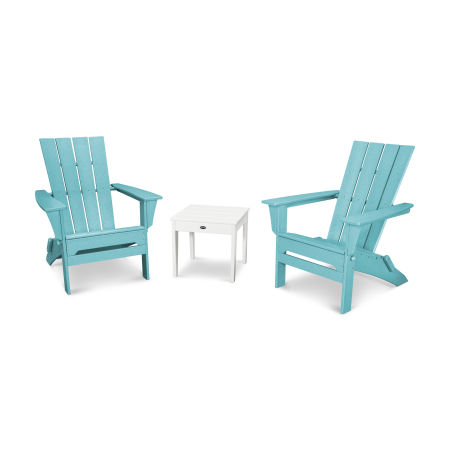Quattro 3-Piece Adirondack Set in Aruba