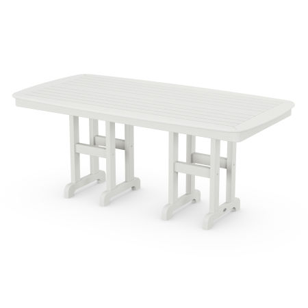 """Nautical 37"""" x 72"""" Dining Table in Vintage White"""