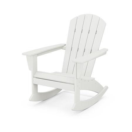 Nautical Adirondack Rocking Chair in Vintage White