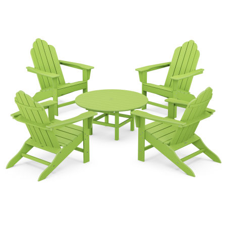 Long Island Adirondack 5-Piece Conversation Group in Lime