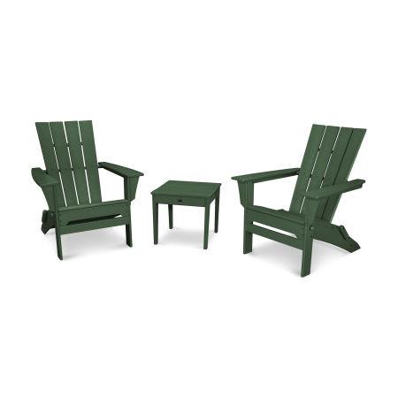 Quattro 3-Piece Adirondack Set in Green