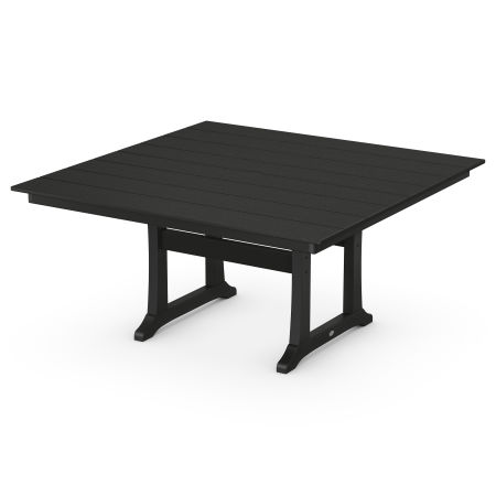 """59"""" Square Dining Table in Black"""