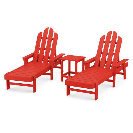 Long Island Chaise 3-Piece Set in Sunset Red