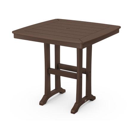 "Nautical Trestle 37"" Counter Table in Mahogany"