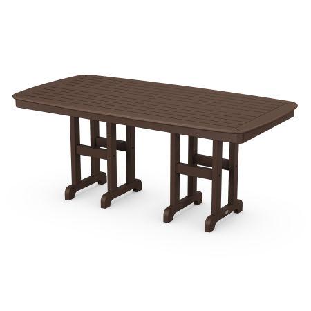 "Nautical 37"" x 72"" Dining Table in Mahogany"