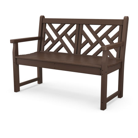 "Chippendale 48"" Bench in Mahogany"