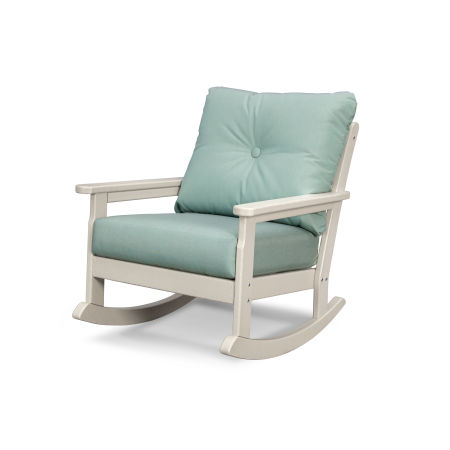 Vineyard Deep Seating Rocking Chair in Sand / Spa