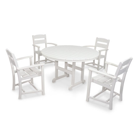 Classics 5-Piece Dining Set in White