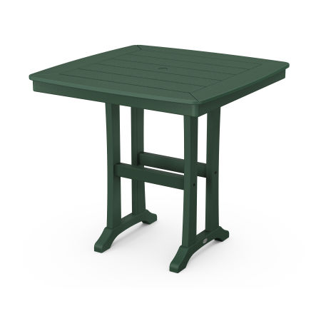 """Nautical Trestle 37"""" Counter Table in Green"""