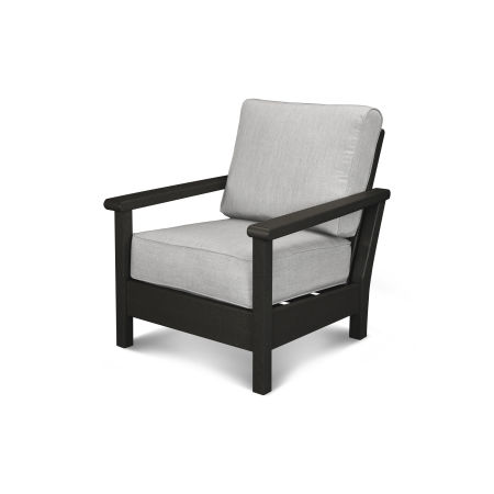 Harbour Deep Seating Chair in Black / Canvas Granite