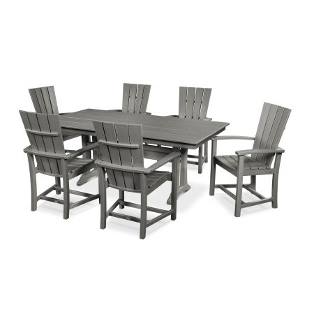 Quattro 7-Piece Farmhouse Trestle Dining Set