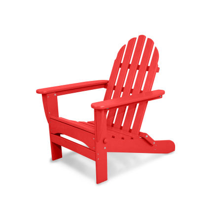 Classics Folding Adirondack in Sunset Red