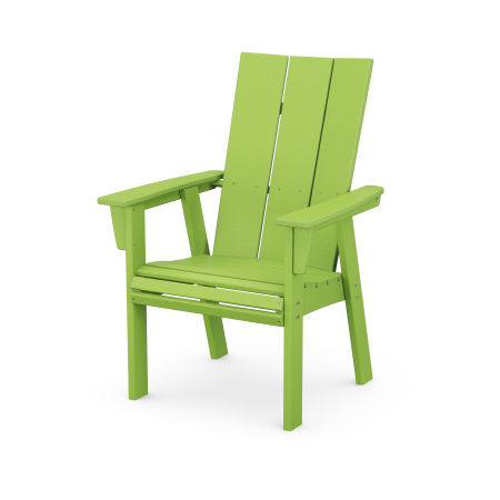 Modern Adirondack Dining Chair in Lime