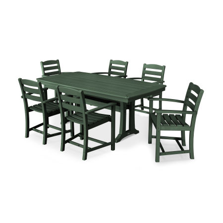 La Casa Café 7 Piece Arm Chair Dining Set in Green