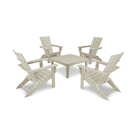 Quattro 5-Piece Conversation Set in Sand