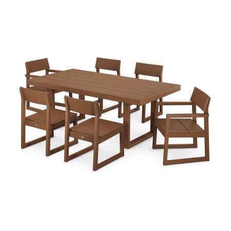 EDGE 7-Piece Dining Set in Teak